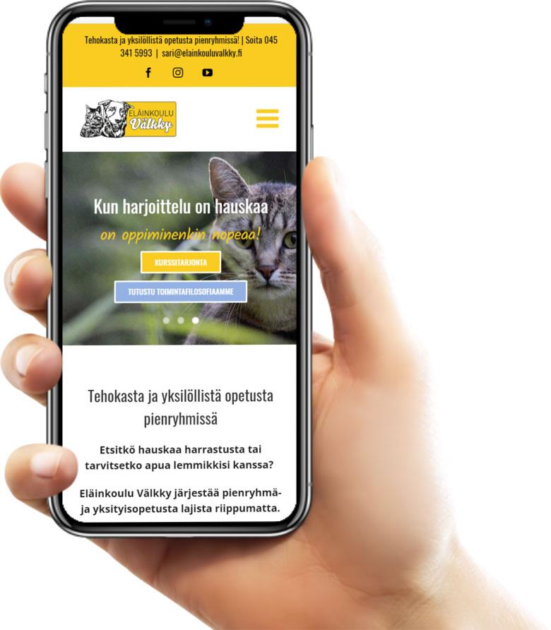 Verkkosivujen suunnittelu ja toteutus- Eläinkoulu Välkky | Internet-sivut yritykselle ...